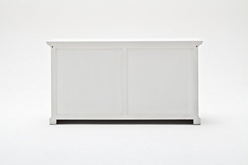 NovaSolo-Halifax-Pure-White-Mahogany-Wood-Sideboard-Dining-Buffet-With-Storage-And-2-Drawers