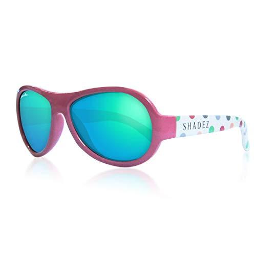 Shadez Sonnenbrille für Kinder, Uva und Uvb, Größe Junior – Rosa mit bunten Punkten – 30 g