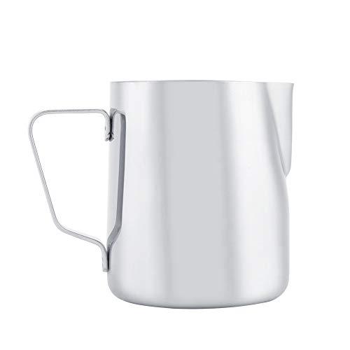 Fditt Latte in Acciaio Inossidabile con schiumarole e bricco Espresso Steaming Pitcher Coffee Cup Mug con misurazione(350ML-New)