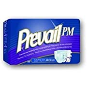 """Prevail PM Extended Wear Adult Briefs - Medium - 32""""-44"""" - Pack of 16"""