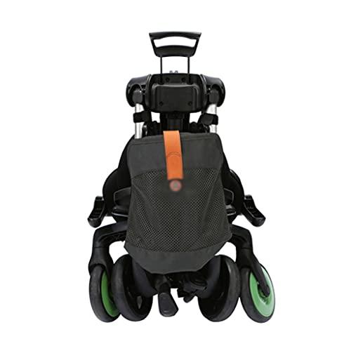 Yyqx sillas de Paseo El Cochecito se Sienta y miente bebé, el Carro de bebé Camina por el bebé, y Gira el Asiento con una Mano y platee con una Mano. (Color : Green, tamaño : There Are Pockets)