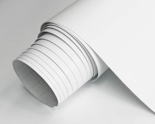 Vinilo Blanco Mate Autoadhesivo Para Muebles Tamaño 60x120 cm Combina Colores Blanco Negro Grises Oro Plata Papel Autoadhesivo Para Paredes Cristales Manualidades (BLANCO)