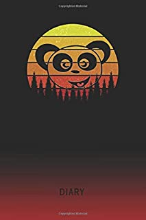 Diary: Blank Giant Panda Personal Writing Memoir   Old School Retro Vintage Sunset 80s Cover   Daily Journaling for Writers & Journalists   ... Set Goals & Write about your Life & Interests