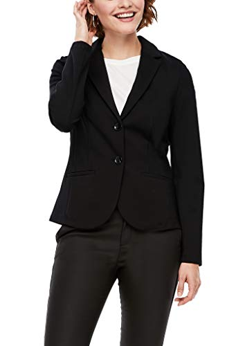 s.Oliver Damen Blazer aus Interlockjersey Black 46