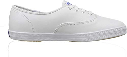Keds Women's Champion Original Leather Lace-Up Sneaker, White, 8.5