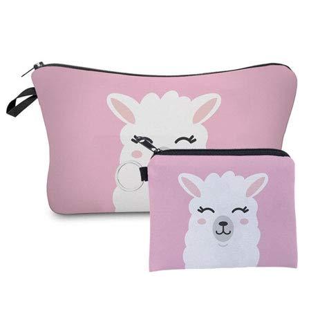 Fashion 2 PCS Printing Girl Gift Makeup Bag Cute Animal Cosmetic Bag Set Combination HLZH205