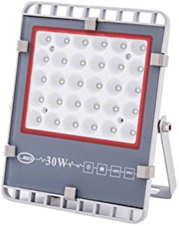 H-XH Strahler Mit,Garten-Quadrat-Sicherheits-Lampen-Baustelle-Projektionslicht Im Freien (gre   30W)