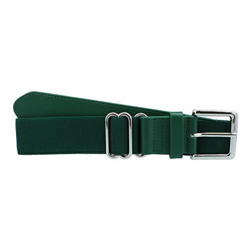 MadSportsStuff Performance Baseball Softball Belt (Adult, Dark Green) - Dark Green,Adult
