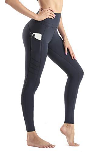 Wirezoll Sport Damen Leggings, Lange Blickdicht Yoga Hose Sporthose Fitnesshose mit Taschen, Upgrade Schwarz, M