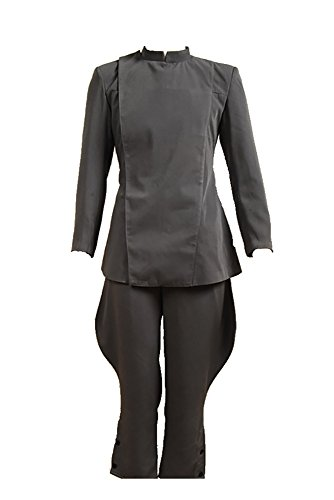 RedJade Imperial Tie Fighter Pilot Black flightsuit Uniforme Jumpsuit Traje de Cosplay Disfraz Negro Hombres XXL