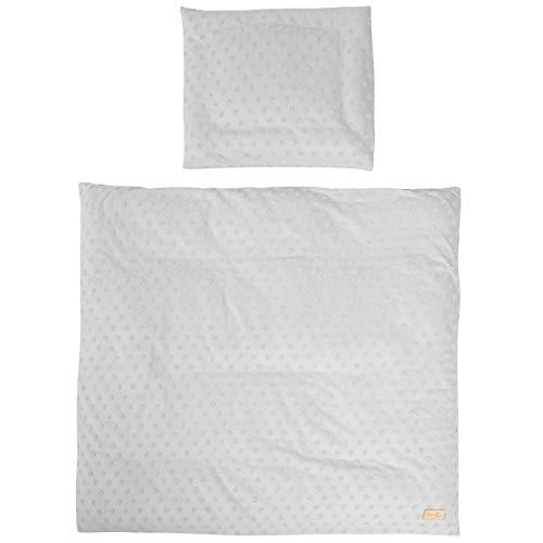 Roba Lil Planet - Ropa de cama para cuna (2 piezas, 80 x 80 cm, tejido jersey, certificado GOT), color gris