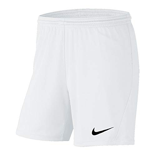 Nike Damen Shorts Park III NB Shorts, White/Black, S, BV6860