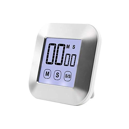 BIGMALL Küchentimer Digitale Touchscreen-Timer Großes LCD-Display Kochtimer Mit Lautem Alarm Magnetischer Rückwärts-Countdown-Timer Für Das Kochen in Der Küche