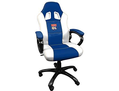 Subsonic Siege gaming baquet - Fauteuil gamer avec assise ergonomique - Chaise de bureau et de jeu pivotante - OL Olympique Lyonnais