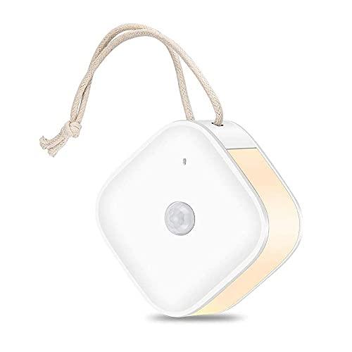 USB充電タイプLEDセンサーライト ストラップ・マグネット付き 人感センサーライト ルームライト 足元灯 室内照明 貼り付け型 MCH-A081-WH