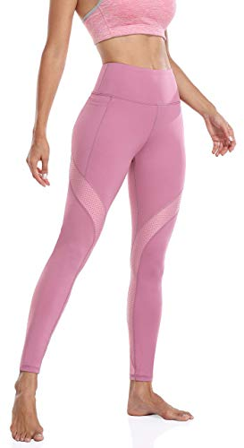 Anwell Kompression Leggings Damen hosenträger Leggins bauchweg Push up Fitness Hose Hoher Bund Bauchweg Yoga Leggings Lila S