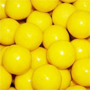 Yellow 1 Inch Gumballs, 2LBS