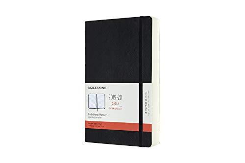 Moleskine Tageskalender, Taschenkalender, 18 Monate, 2019/2020, Large, A5, Soft Cover, Schwarz (AGENDAS 18 MOIS)