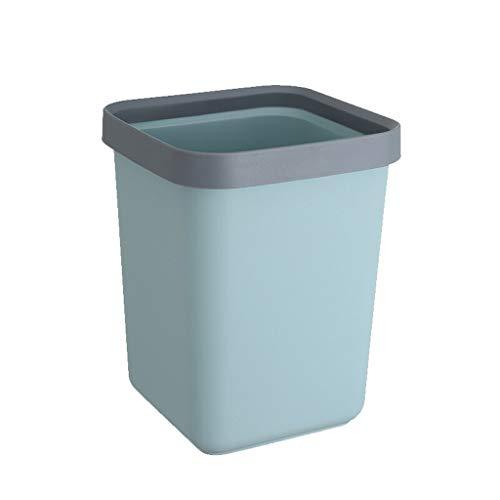 MIAOQINQIN Bote de Basura De Basura Grande de plástico Cuadrado Puede 12L Cocina Baño de Limpieza del hogar Cubo Oficina Libro Azul 6L Cocina del Bote de Basura (Size : 12L)