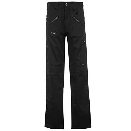 Dunlop Herren Cargo Arbeitshose Freizeit Hose Mit Taschen Arbeitskleidung Schwarz XX Large