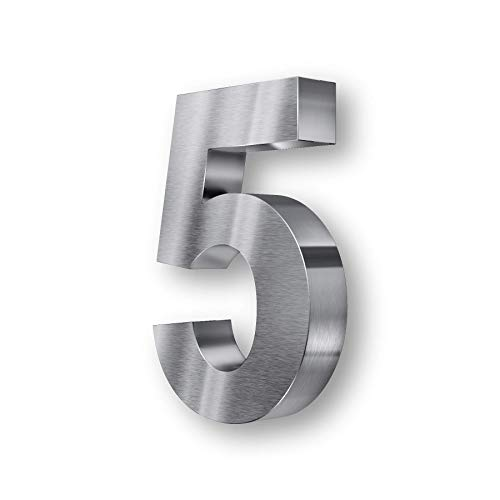 Acero inoxidable con número de casa 3D - resistente a la intemperie...