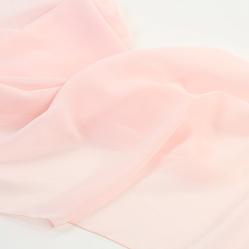 Koyal Wholesale Chiffon Table Runner 18 x 180-Inch Extra Long, Wedding Runners, Holiday Table Runners, Long Table Runners (Blush Pink, 18 x 180-Inch)
