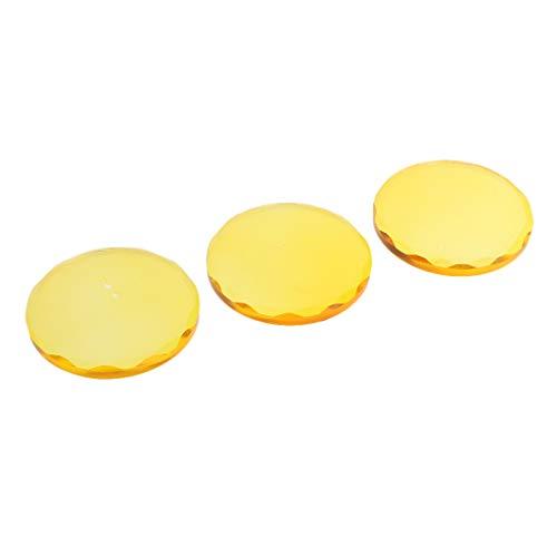T TOOYFUL 3pcs Palette De Cils Ronds Réutilisables Colle Colle Stand Greffe Cils - Jaune