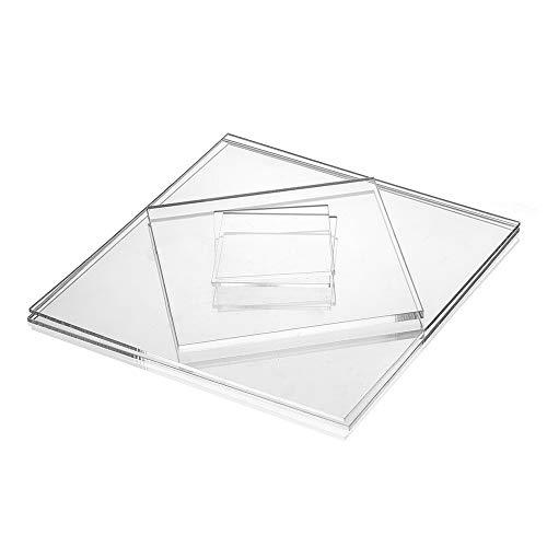 Acrylglas-Zuschnitt Quadratisch – 100x100 mm, 4 mm stark, transparente Acrylglas- Plexiglas-Platte, beidseitig foliert, geprüfter UV-Schutz, glasklar, bruchfest & vielseitig anwendbar