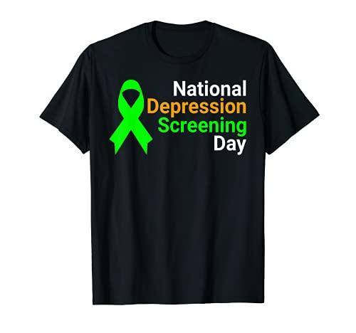 Día Nacional de Cribado de la Depresión - Conciencia de la Salud Mental Camiseta