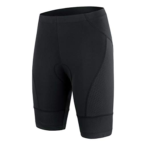 beroy Bike Shorts Women with Padding Ride Biking Cycling Compression Shorts with 3D Gel Padded(Sblack,XL)
