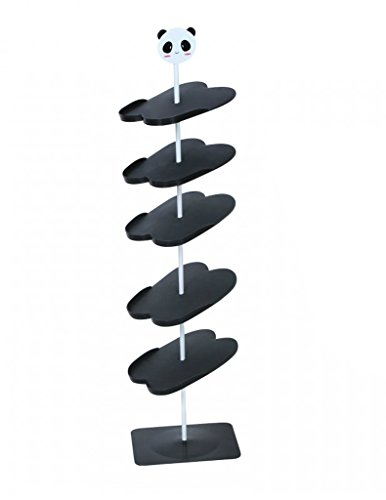 CCZZ Zapatero creativo modelo de suelo rotatorio zapatero de plástico para ahorrar espacio (caricatura)