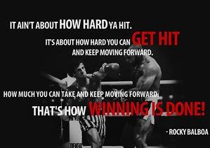 Poster, Zitat von Rocky Balboa, A3