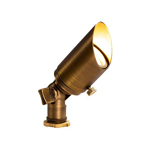 Lumen Logic 12V Brass Mini Spotlight with LED Bulb