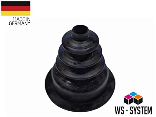 2 Stück Universal Faltenbalg Gummi Manschette Anhänger L 35 mm-55 mm Ø 9 mm- 40 mm | Faltenbalg | Manschette | Achsmanschette | Anhängerbalg | Lenkmanschette | Balg | Schutzbalg |