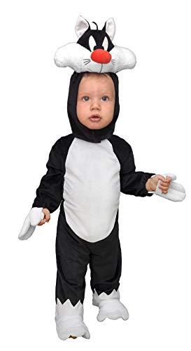 Ciao- Gatto Silvestro Looney Tunes Costume Originale Baby (Taglia 1-2 Anni), Colore, 11711.1-2