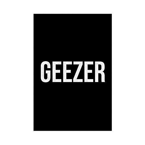 L&S PRINTS Geezer - Toalla de playa con cita de Cockney Slang de microfibra divertida para regalo de piscina, color negro