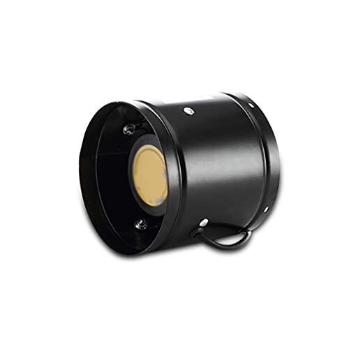 Release Ventilador Extractor de baño, Extractor de Cocina Ventilador de Tubo Negro Resistente para Oficina/almacén/Dormitorio/Cocina Tamaño: 6/8 pulg. (Size : 8inches)