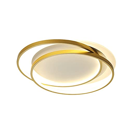 TOBOYO Luz De Techo Empotrada LED De Forma Redonda Iluminación para El Hogar/Interior Luz De Tres Colores Ajustable Luz Plana Decoración Dorada Resplandor Envolvente Luces para La Habitación De Los