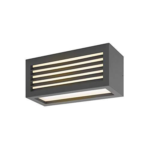 SLV Wand- und Deckenaufbauleuchte BOX_L / Beleuchtung für Wände, Wege, Eingänge, LED Spot außen, Aufbau-Leuchte Outdoor, Gartenlampe, Decken-Strahler / IP54 3000K 19.0W 600lm anthrazit