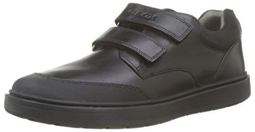 Geox Jungen J Riddock Boy F Schuluniform Schuhe, Schwarz (Black), 39 EU