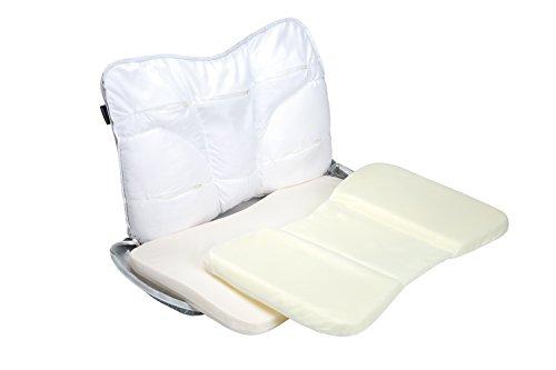 西川リビング枕グレー38×60cmピロギャラリーヨコ寝楽まくらゆったりワイドサイズ両面使えるプレミアム2433-10349