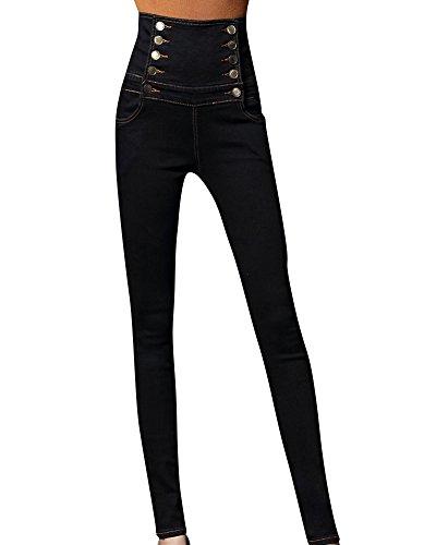 Kasen Jeans Mujer Elástico Flacos Vaqueros Push up Mezclilla Pantalones Negro 5XL