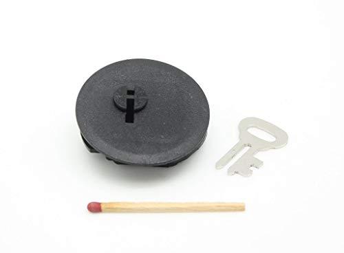 Generisch Spardosenschloss aus Plastik - mit Schlüssel - Verschluss für Sparbüchse, Spardose und Sparschwein - 40mm Ø - Hannas Laden (1, Plastik)