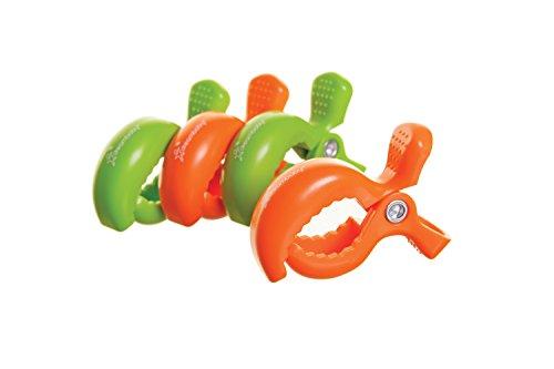 Dreambaby Clips pour poussette (2 Vert/2 Orange, Lot de 4)