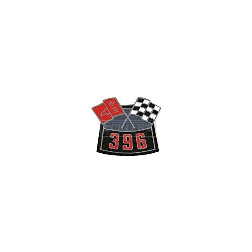 Eckler's Premier Quality Products 85341952 Nova Air Cleaner Decal Big Block 396 Cross Flag