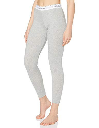 Calvin Klein Damen Schlafanzughose MODERN SLEEPWEAR - PANT, Einfarbig, Gr. 34 (Herstellergröße: XS), Grau (HEATHER GREY 020)