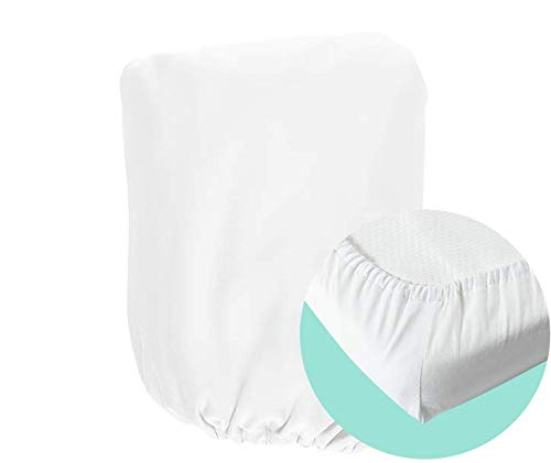 moKee Soft Seagrass Moses Basket Cotton Fitted Sheet, White