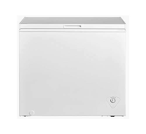Saving Energy Efficient 5 cu ft Chest Freezer Upright Single Door Compact Space Apartment Home Food Storage Compact (White)