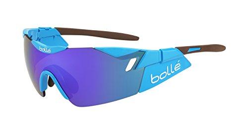 bollé 6Th Sense Gafas, Unisex Adulto, Azul (Shiny) marrón, L