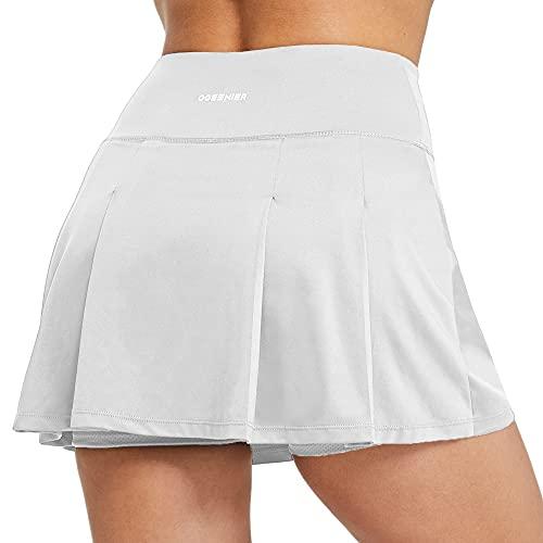 Ogeenier Tennisrokken voor dames, met korte broek, geplooid, mini-atletische golfskorts met zakken voor hardlopen…
